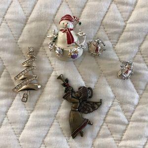 3 Christmas Pins